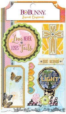 BoBunny - Layered Chipboard - Faith