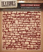 "5"" X 7"" Textures Embossing Folder - Dry Stone Wall"
