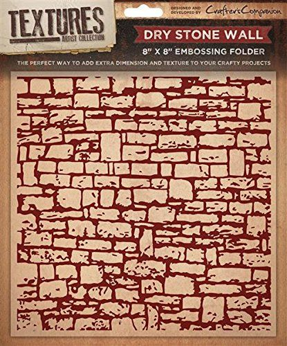"""5"""" X 7"""" Textures Embossing Folder - Dry Stone Wall"""