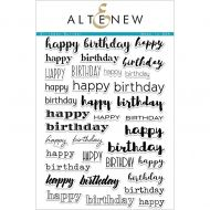 AlteNew - Clear Stamp Set - Birthday Builder