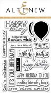 AlteNew - Clear Stamp Set - Birthday Greetings