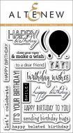 AlteNew - Clear Stamp Set - Birthday Greetings