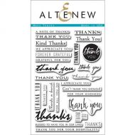 AlteNew - Clear Stamp Set - Many Thanks