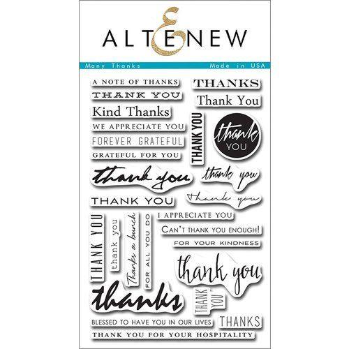 AlteNew - Clear Stamp Set - Many Thanks