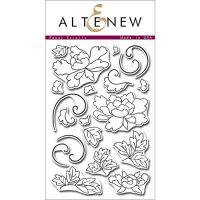 AlteNew - Clear Stamp Set - Peony Scrolls