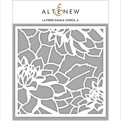 AlteNew - Stencil - Dahlia A