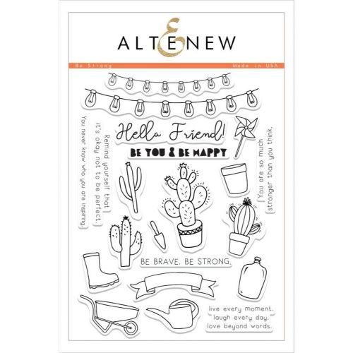 AlteNew - Clear Stamp Set - Be Strong