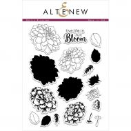 AlteNew - Clear Stamp Set - Dahlia Blossoms