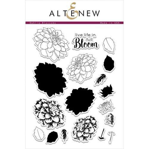 AlteNew - Clear Stamp Set - Dahlia Blossoms