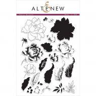 AlteNew - Clear Stamp Set - Peony Bouquet