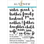 AlteNew - Clear Stamp Set - Family Matters