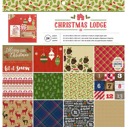 American Crafts - Paper Pad - Christmas Lodge