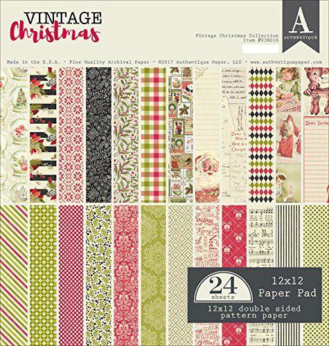 Authentique - 12x12 Classic Christmas - Designer Patterned Paper