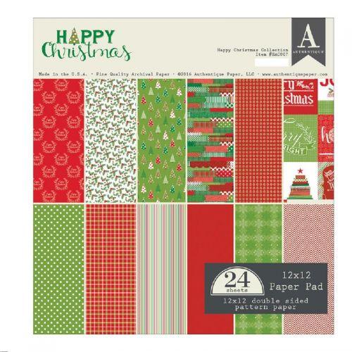 Authentique - Paper Pad - Happy Christmas