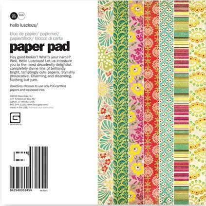 BasicGrey - Paper Pad - Hello Lucious 6x6