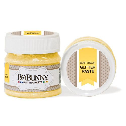 BoBunny - Double Dot Collection - Glitter Paste - Buttercup