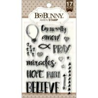 Bo Bunny Stamps, Amen, Clear