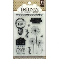 Bo Bunny Rubber Stamp Clear Cling Set Be The Light