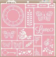 BoBunny - Stencil Stickables - Love
