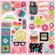BoBunny - Forever Young Collection - Chipboard Stickers