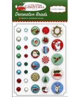 Carta Bella Collection - A Very Merry Christmas - Deco Brads
