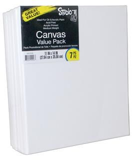 "Darice Studio 71 - Traditional Canvas 11""x 14"" - Value Pack 7pc"