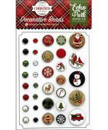 Echo Park Collection - A Perfect Christmas - Deco Brads