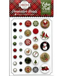 Echo Park Collection - A Perfect Christmas - Deco Brads
