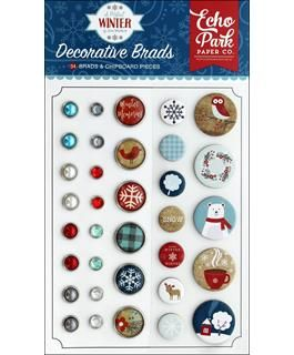 Echo Park Collection - A Perfect Winter - Deco Brads