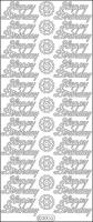 Elizabeth Crafts - Peel Off Stickers - Happy Birthday