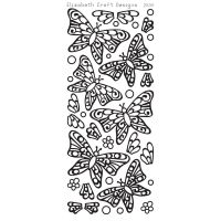 Elizabeth Crafts - Peel Off Stickers - Butterflies - Black