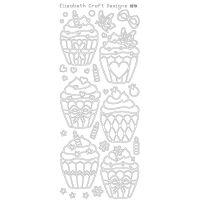 Elizabeth Crafts - Peel Off Stickers - Cupcakes