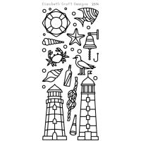 Elizabeth Crafts - Peel Off Stickers - Lighthouse - Black