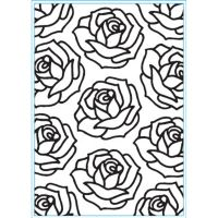 Elizabeth Crafts - Peel Off Stickers - Roses - Black
