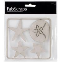 FabScraps Shell & Starfish Chipboard