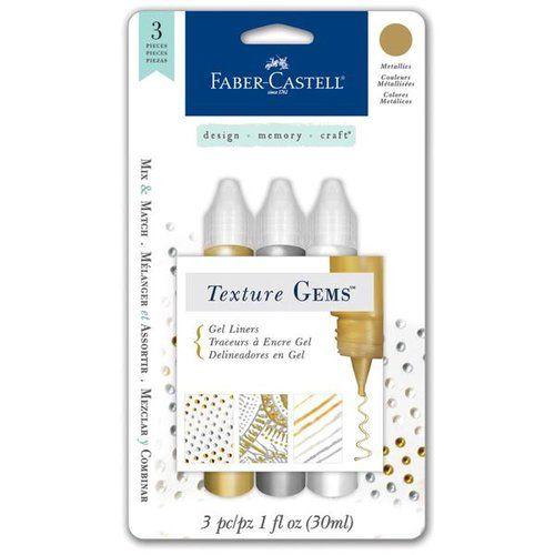 FaberCastell Texture Gems Gel Liner Metallics