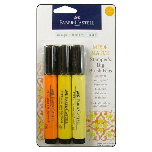 FaberCastell - Stamper's Big Brush Pen - Mix & Match Set - Yellow