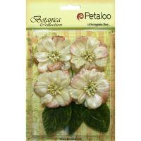 Petaloo - Vintage Velvet Flowers - Peonies Ivory