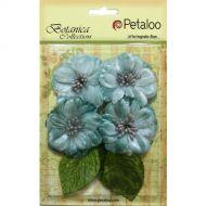 Petaloo - Vintage Velvet Flowers - Peonies Teal