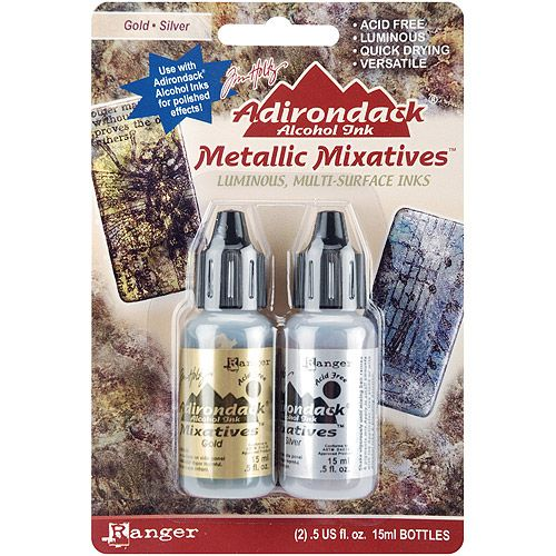Ranger - Alcohol Inks - Metallic Mixative - Silver/Gold