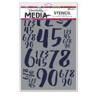 Ranger - Dina Wakley - Stencils - Jumbled Numbers