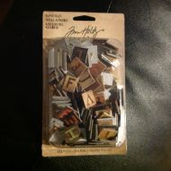 Ranger - Tim Holtz - Chipboard Alpha Tiles