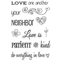 SRM - Bible Journaling - Clear Stamp - Love One Another