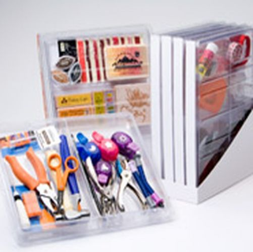 ScrapOnizer - Toolbox with 4 trays