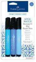 Faber-Castell Mix & Match Stamper's Big Brush Pens - Blue