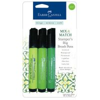 FABER-CASTELL Mix and Match Stamper's Big Brush Pens - 3-pack Green