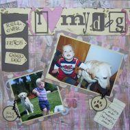T2S - 61294 12x12 Page Kit- I Love My Dog