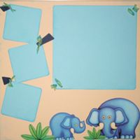 T2S - 61407 12x12 Page Kit- Elephants