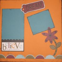T2S - 61456 12x12 Page Kit- Believe In Your Dreams
