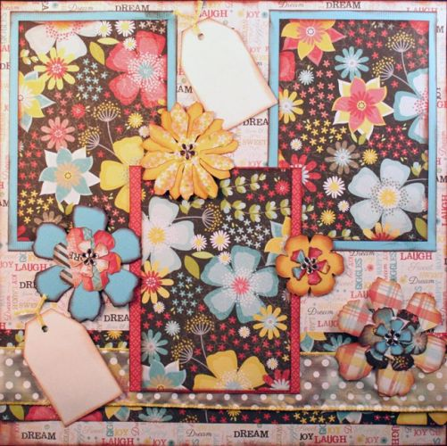 T2S - 61463 12x12 Page Kit- Adorn Flowers